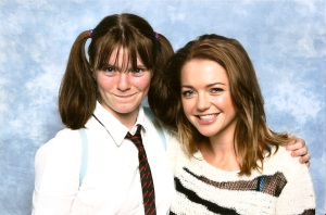 Emily with Hannah Spearritt.