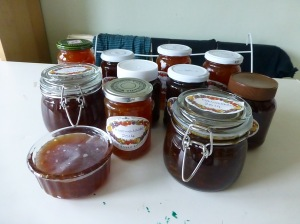All my Seville Orange marmalade.