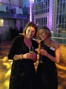 With my wonderful editor Fliss....and a glass of champagne!