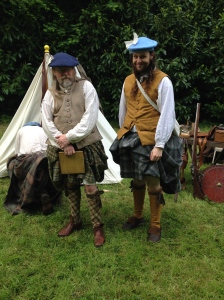 A pair of men in their costumes. We thought the guy on the left looked like Si from the Hairy Bikers.