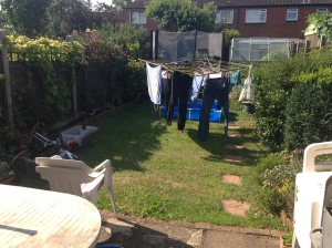 Please excuse the washing on the line.
