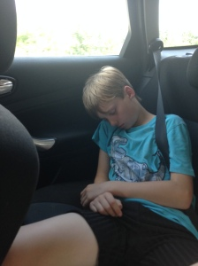 Even when they're 12, they still fall asleep in the car.
