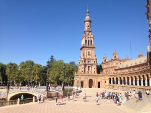 The Plaza de Espana, which is now used as the government offices.