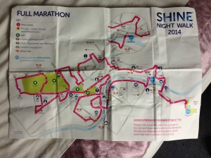 The Course map.
