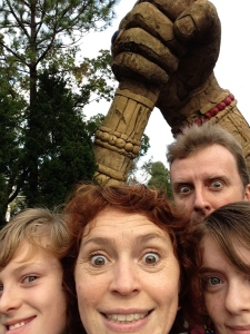 Islands of Adventure family selfie.