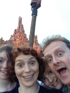 The obligatory family selfie by The 7 Dwarfs Mine Train.