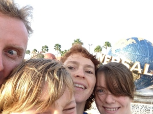 The family selfie was becoming common place.