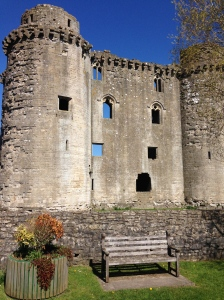 Nunney Castle, with moat and drawbridge. A bit draughty in places though.