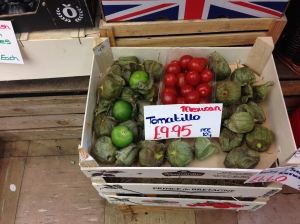 Tomatillos for sale. You won't find them on sale where I live.