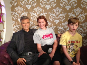 A George either side of me. Aren't I a lucky girl!!