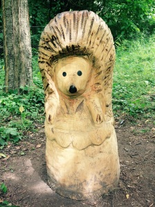 There were 3 carvings of various characters. I don't think we missed any.