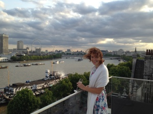 It was lovely on the Roof Terrace, although rather windy.