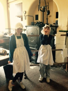 The maids are ready for some cooking and scrubbing!!