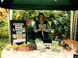 My display!! Come and buy a signed copy, perfect for those learning how to garden.