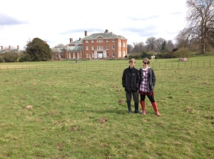 Hatchlands Park House. Take a note how clean their wellies are.