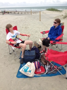 We're British and we'll sit on the beach what ever the weather.