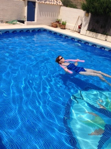 Nothing more relaxing than floating about in the pool.