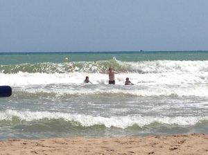 Perfect waves for boogie boarding.
