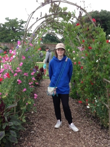 The smell of the Sweet Peas as you walked under the arch was amazing.