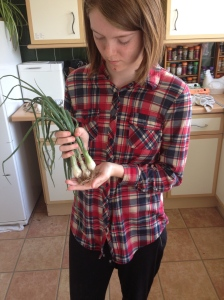 My Spring Onions. A good size even if I say so myself.