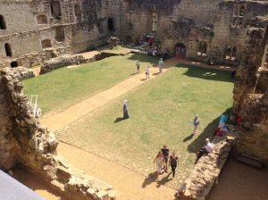 The courtyard in the middle of the castle. So much space.